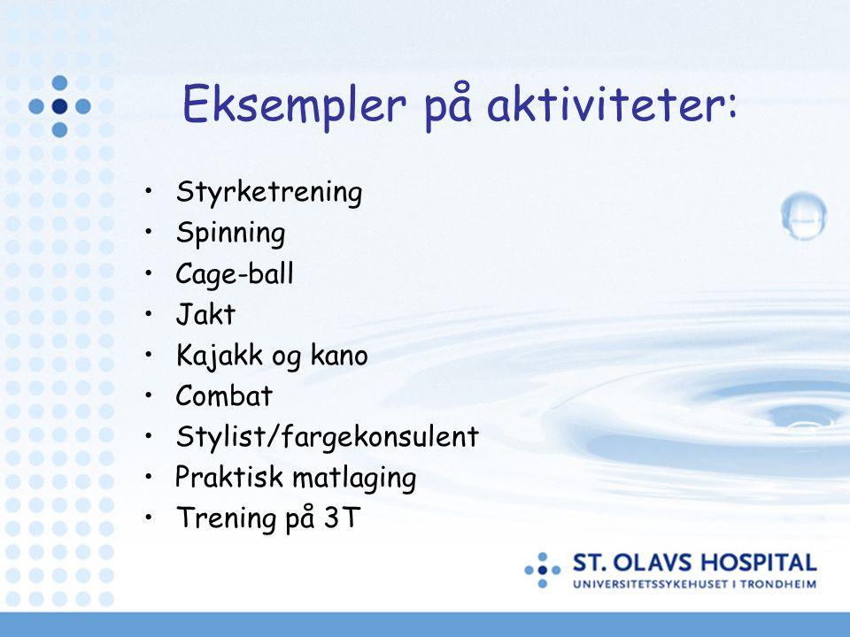 Eksempler på aktiviteter: