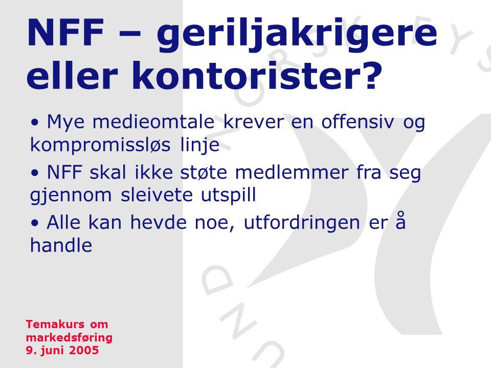 NFF – geriljakrigere eller kontorister