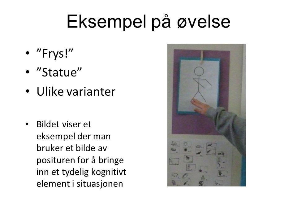 Eksempel på øvelse Frys! Statue Ulike varianter