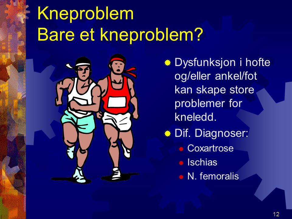 Kneproblem Bare et kneproblem