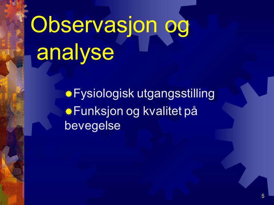 Observasjon og analyse