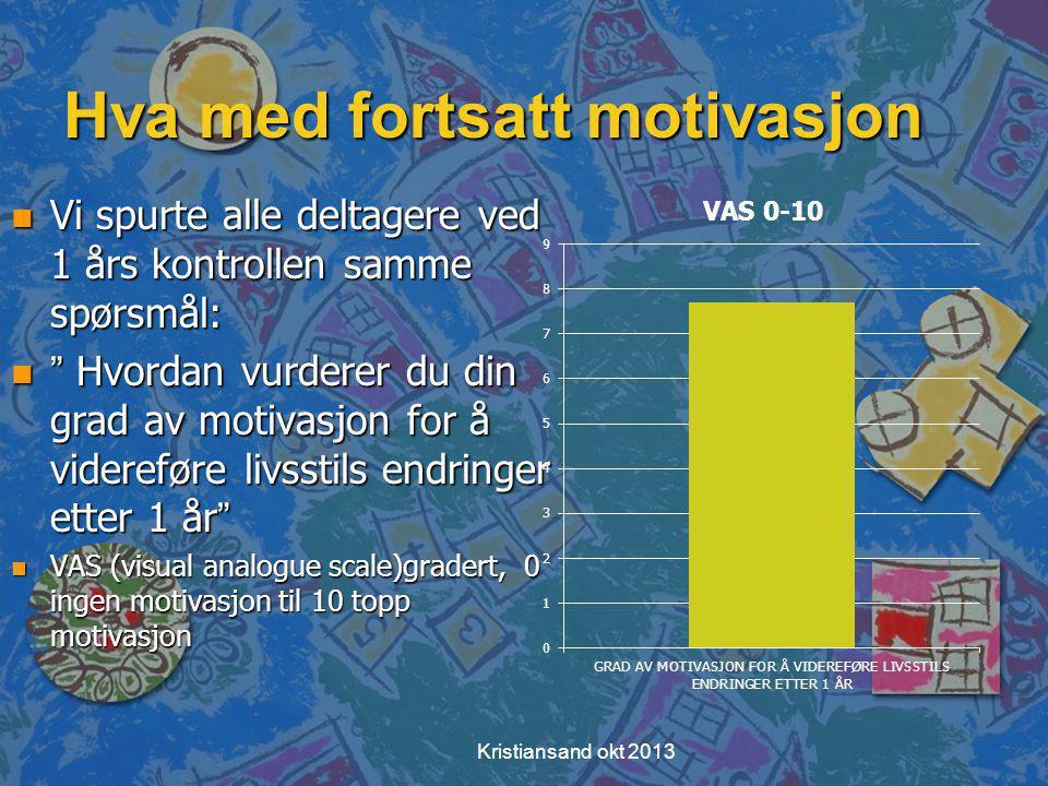 Hva med fortsatt motivasjon