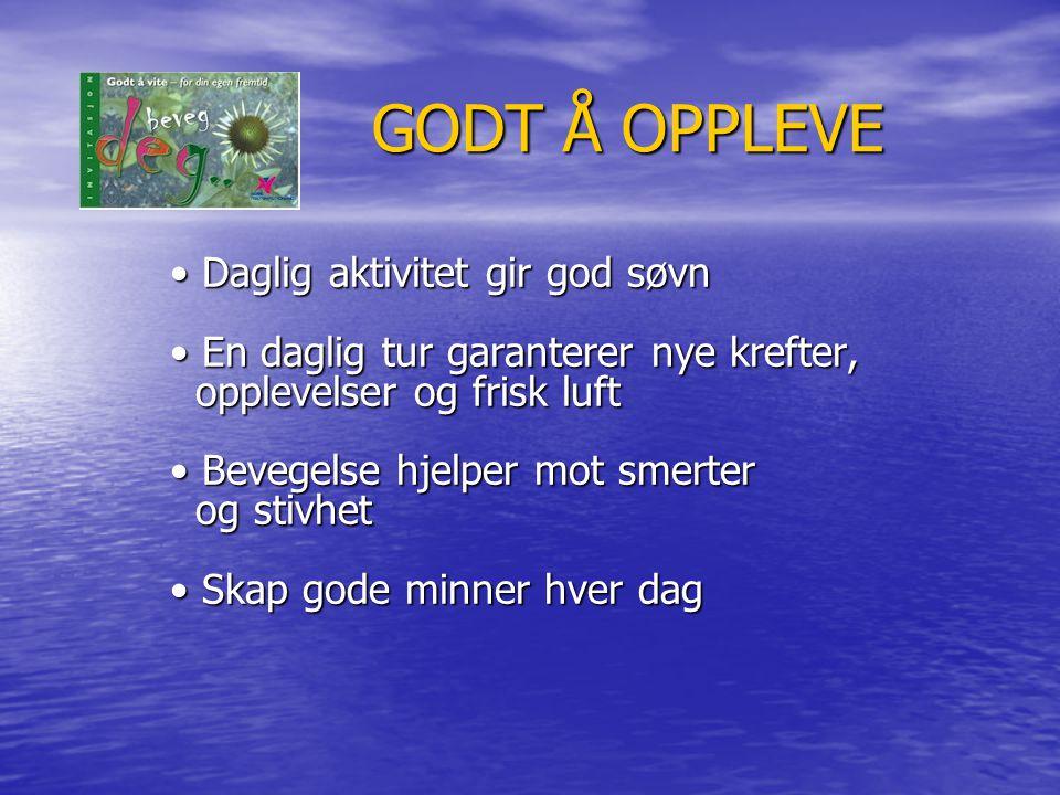 GODT Å OPPLEVE