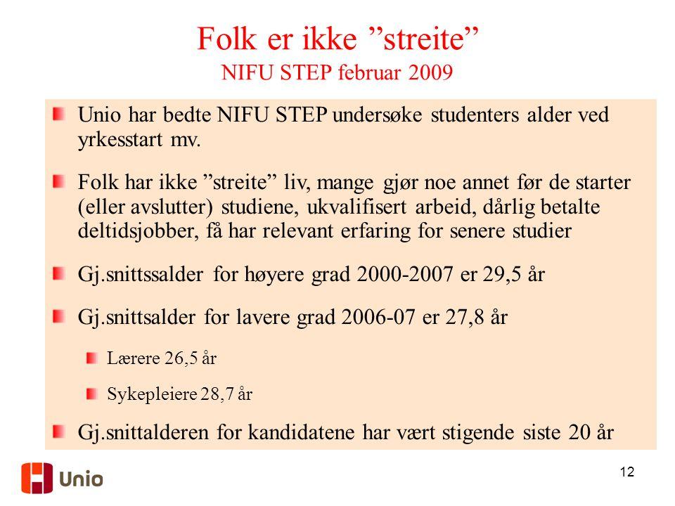 Folk er ikke streite NIFU STEP februar 2009