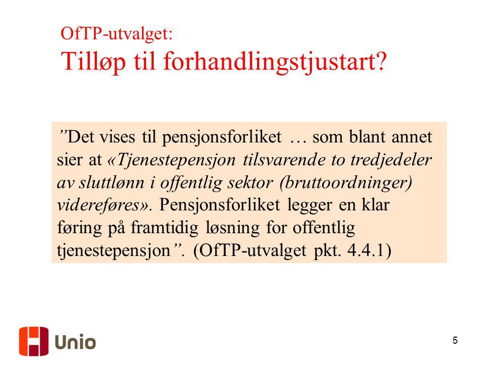 OfTP-utvalget: Tilløp til forhandlingstjustart