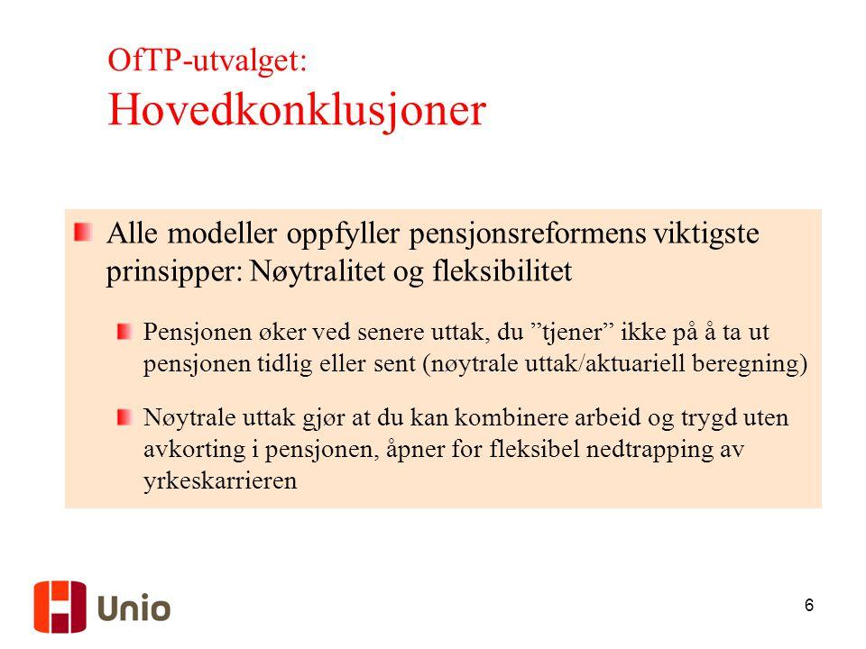 OfTP-utvalget: Hovedkonklusjoner