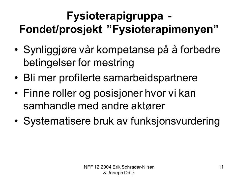 Fysioterapigruppa - Fondet/prosjekt Fysioterapimenyen