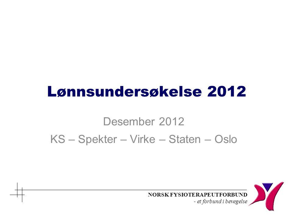 Desember 2012 KS – Spekter – Virke – Staten – Oslo