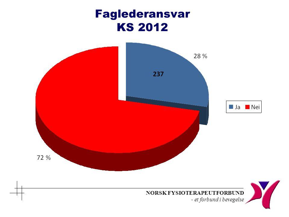Faglederansvar KS 2012