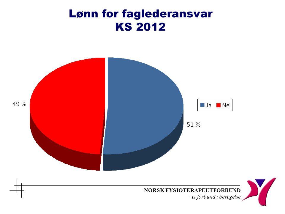 Lønn for faglederansvar KS 2012