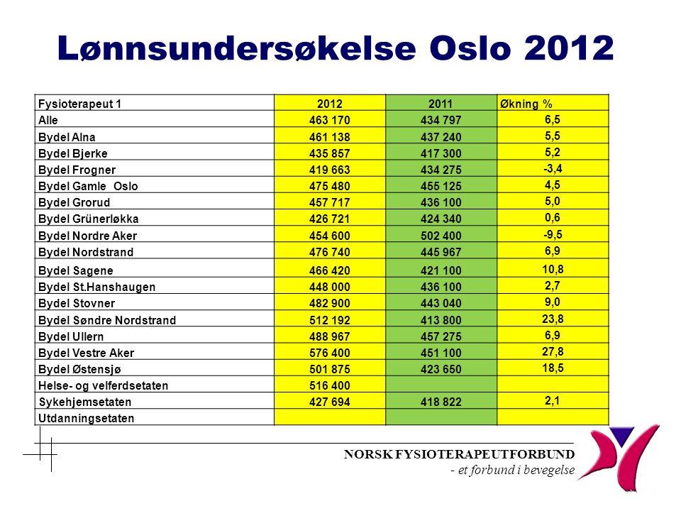Lønnsundersøkelse Oslo 2012