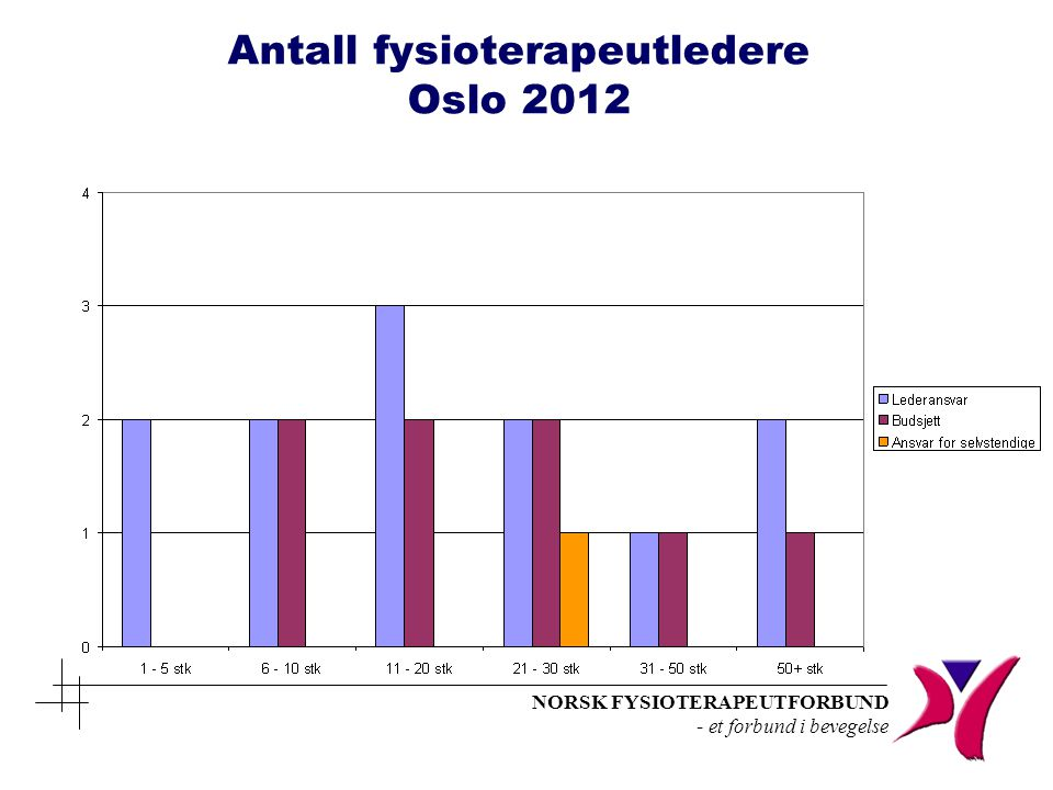Antall fysioterapeutledere Oslo 2012