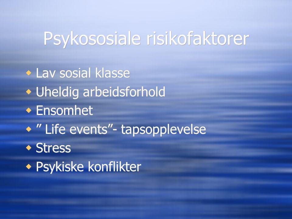 Psykososiale risikofaktorer