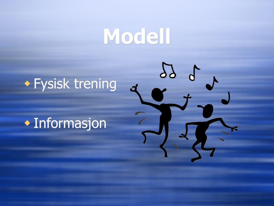 Modell Fysisk trening Informasjon