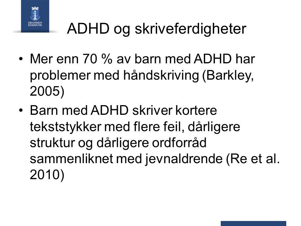ADHD og skriveferdigheter