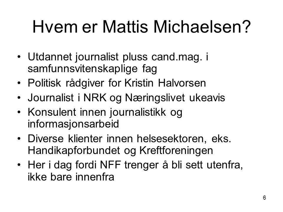 Hvem er Mattis Michaelsen