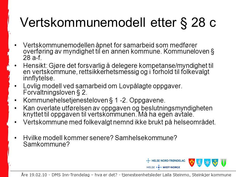 Vertskommunemodell etter § 28 c