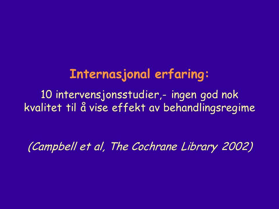 Internasjonal erfaring: