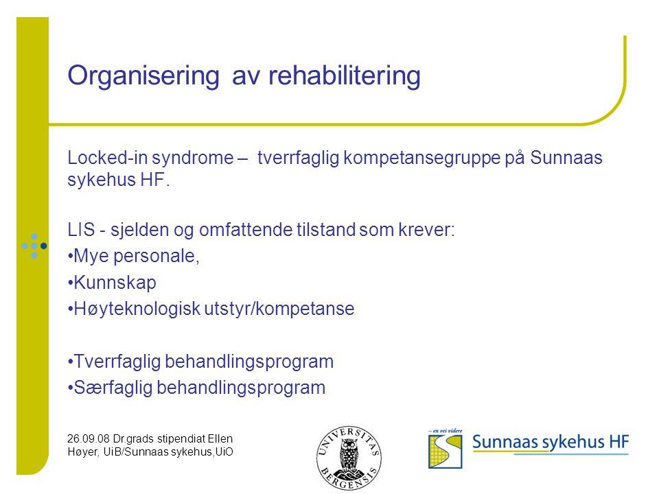 Organisering av rehabilitering