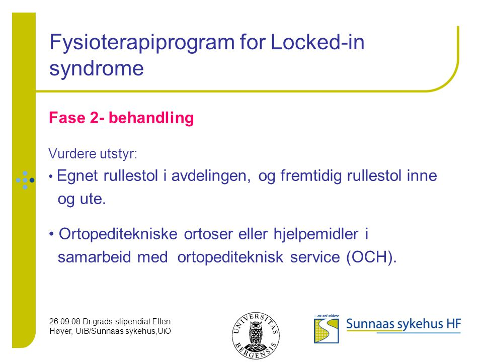 Fysioterapiprogram for Locked-in syndrome