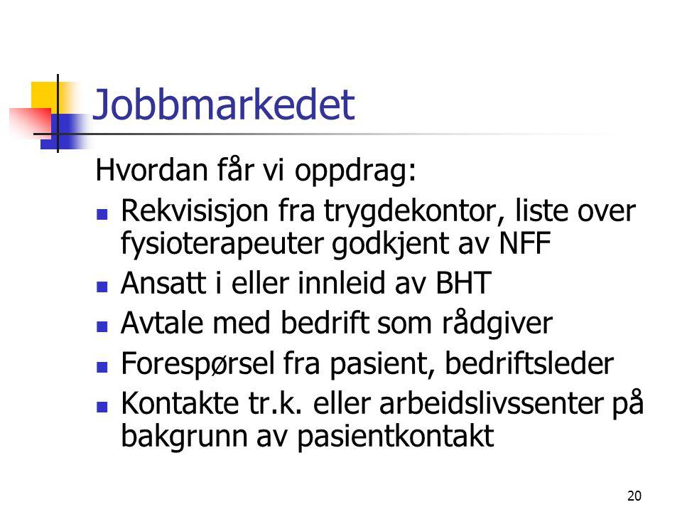 Jobbmarkedet Hvordan får vi oppdrag: