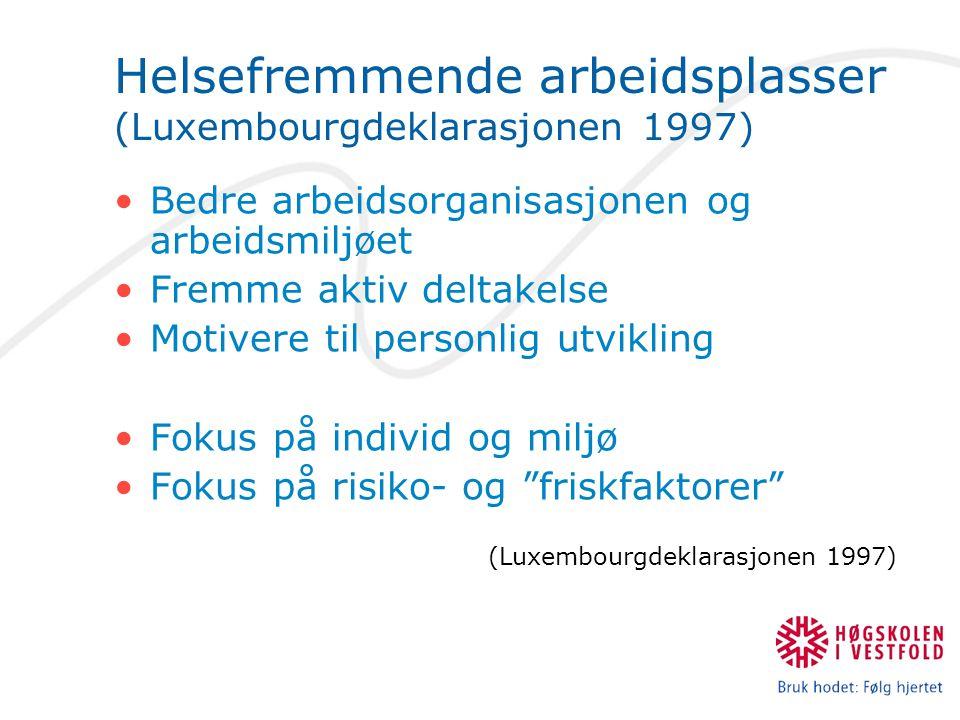 Helsefremmende arbeidsplasser (Luxembourgdeklarasjonen 1997)