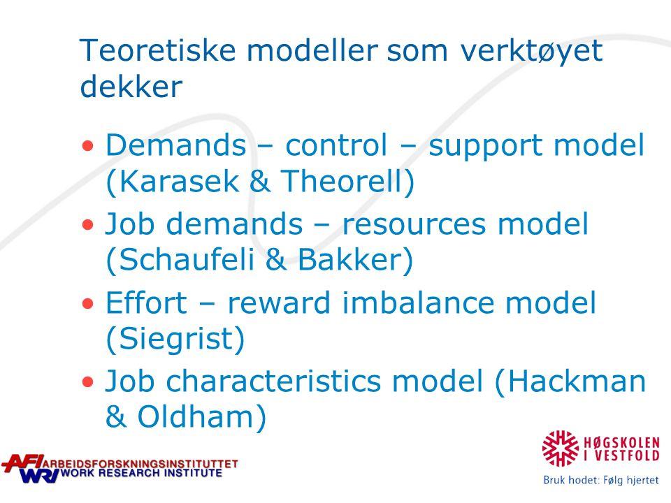 Teoretiske modeller som verktøyet dekker