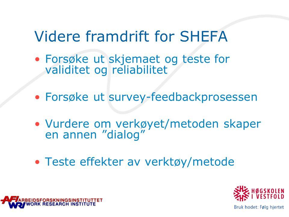 Videre framdrift for SHEFA