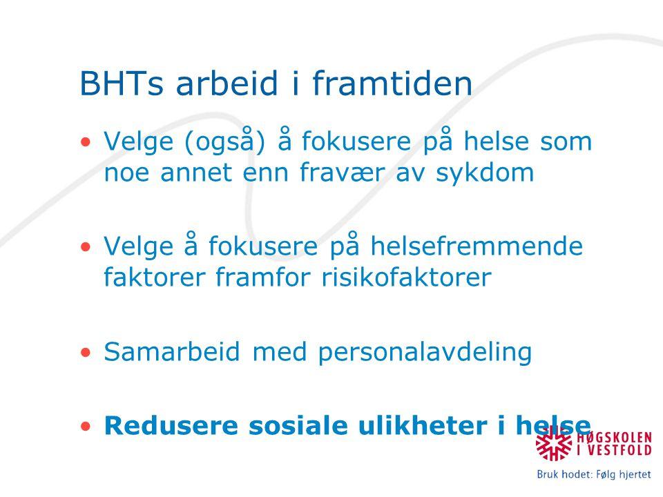 BHTs arbeid i framtiden