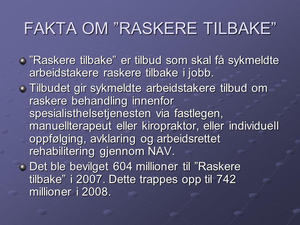 FAKTA OM RASKERE TILBAKE
