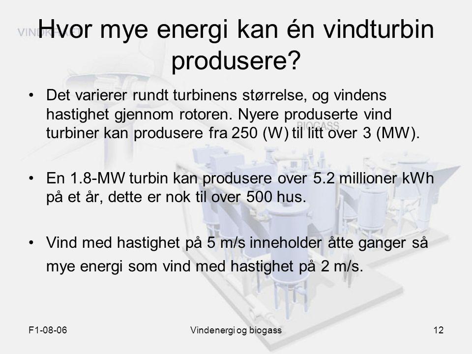 Hvor mye energi kan én vindturbin produsere