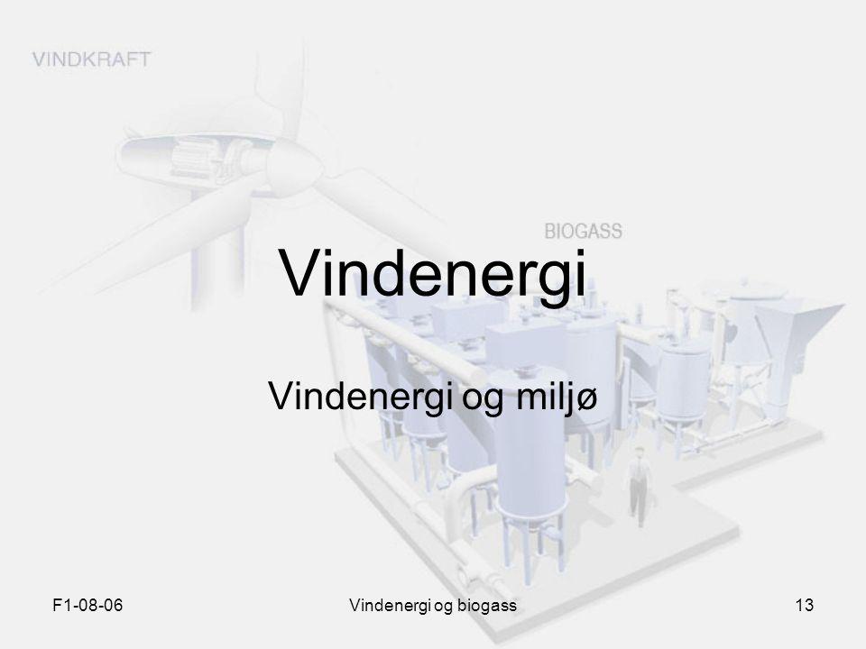 Vindenergi Vindenergi og miljø F1-08-06 Vindenergi og biogass