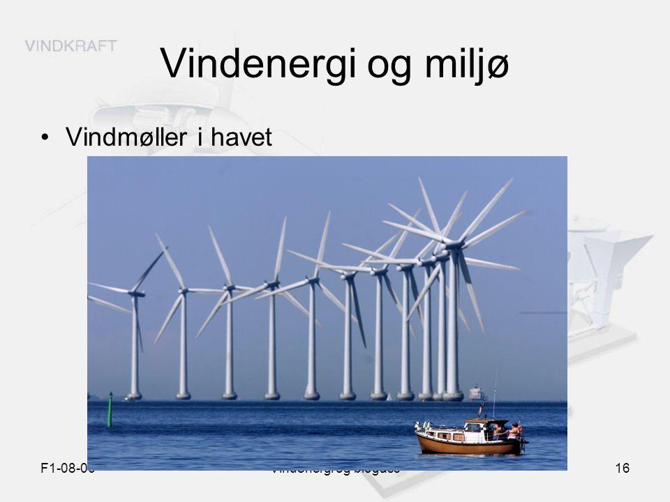 Vindenergi og miljø Vindmøller i havet F1-08-06 Vindenergi og biogass