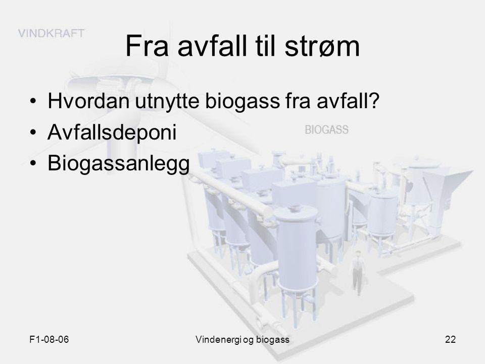 Fra avfall til strøm Hvordan utnytte biogass fra avfall Avfallsdeponi
