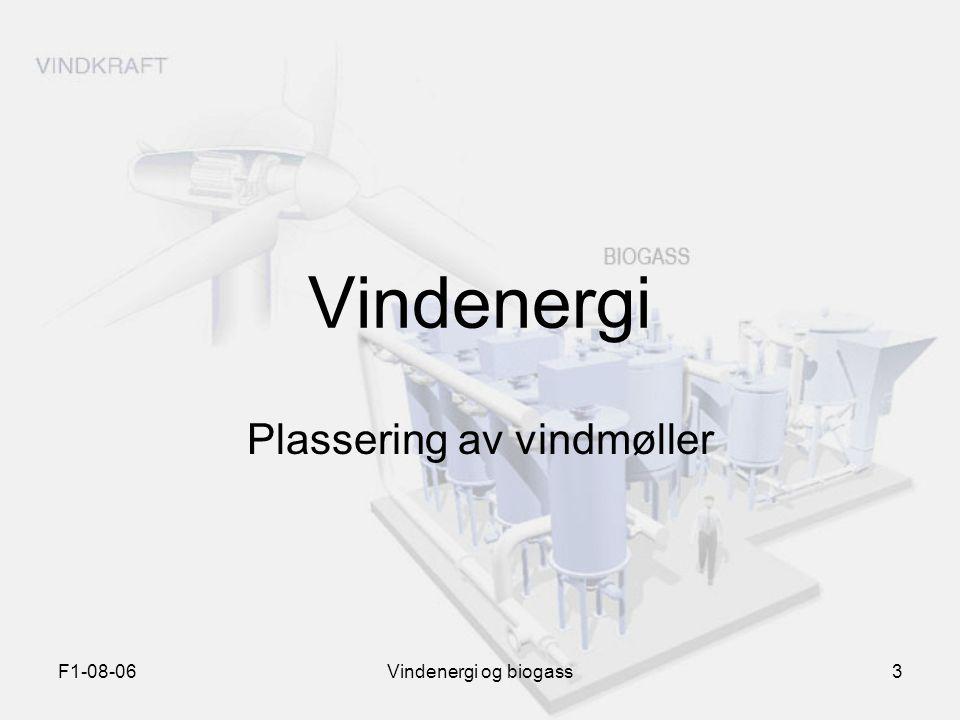 Plassering av vindmøller