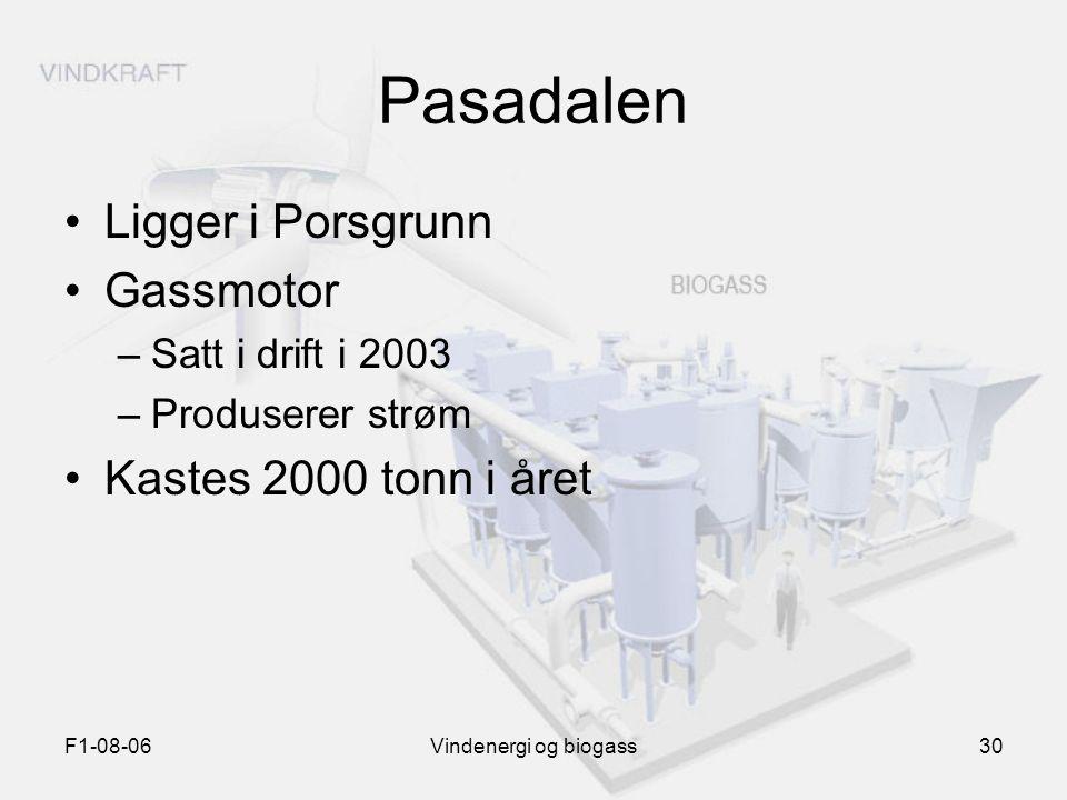 Pasadalen Ligger i Porsgrunn Gassmotor Kastes 2000 tonn i året