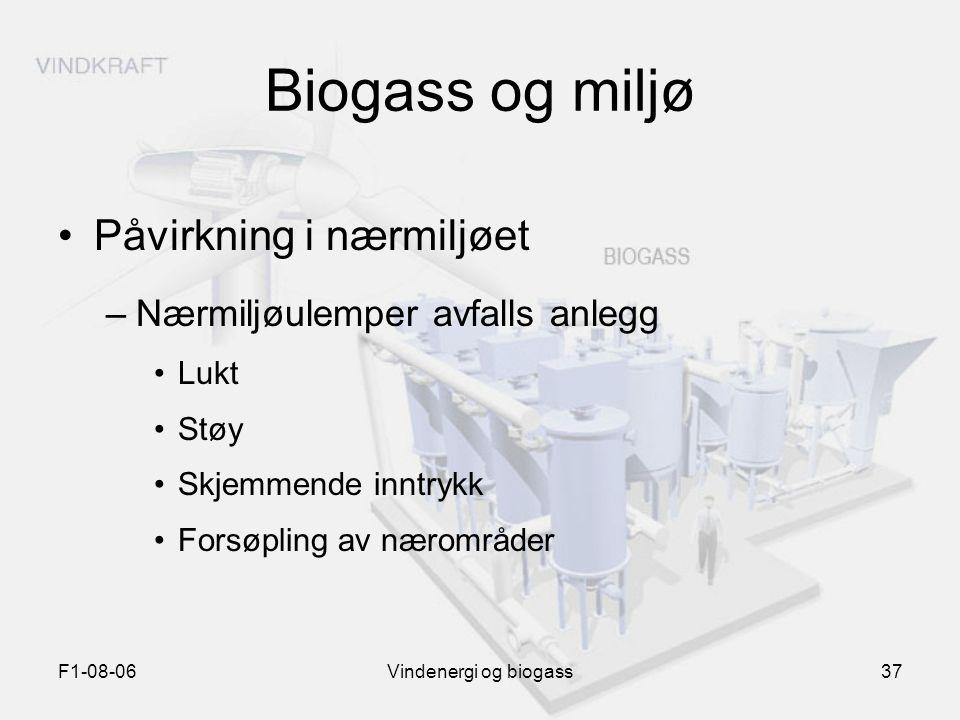 Biogass og miljø Påvirkning i nærmiljøet