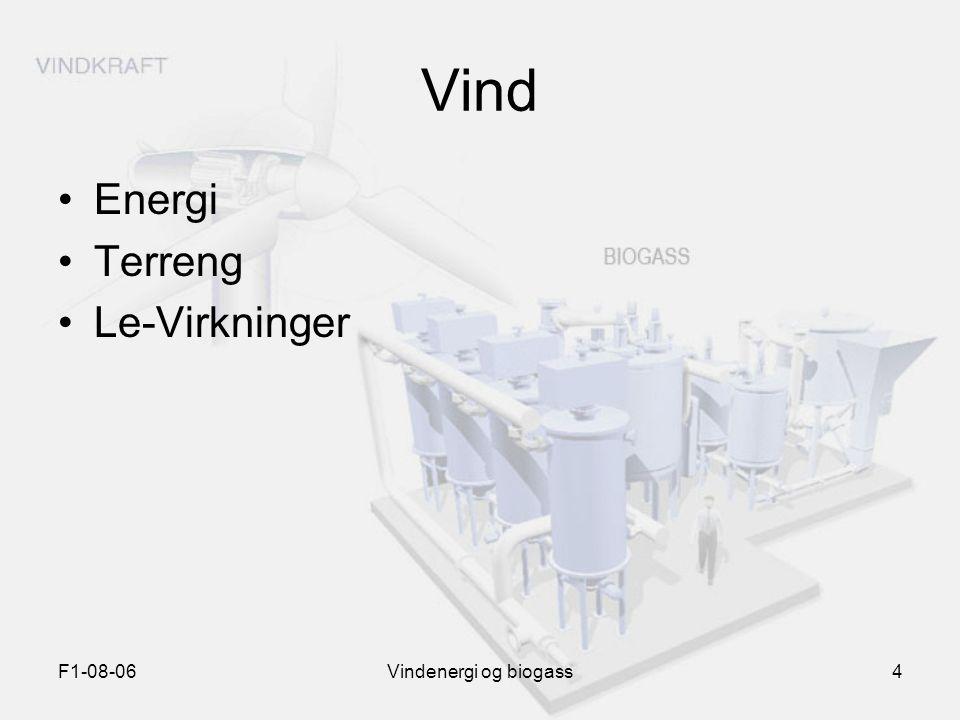 Vind Energi Terreng Le-Virkninger F1-08-06 Vindenergi og biogass