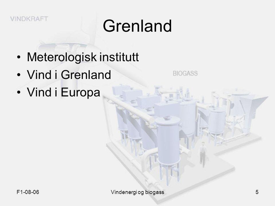 Grenland Meterologisk institutt Vind i Grenland Vind i Europa F1-08-06