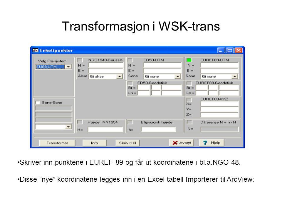 Transformasjon i WSK-trans