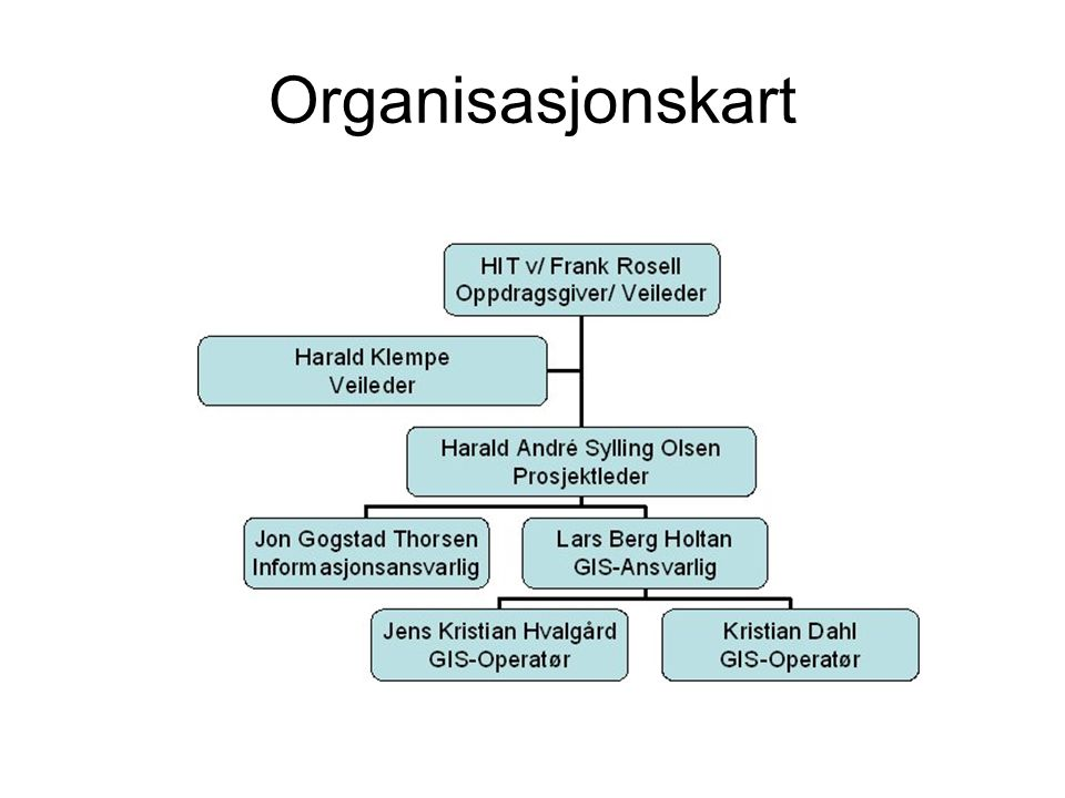 Organisasjonskart