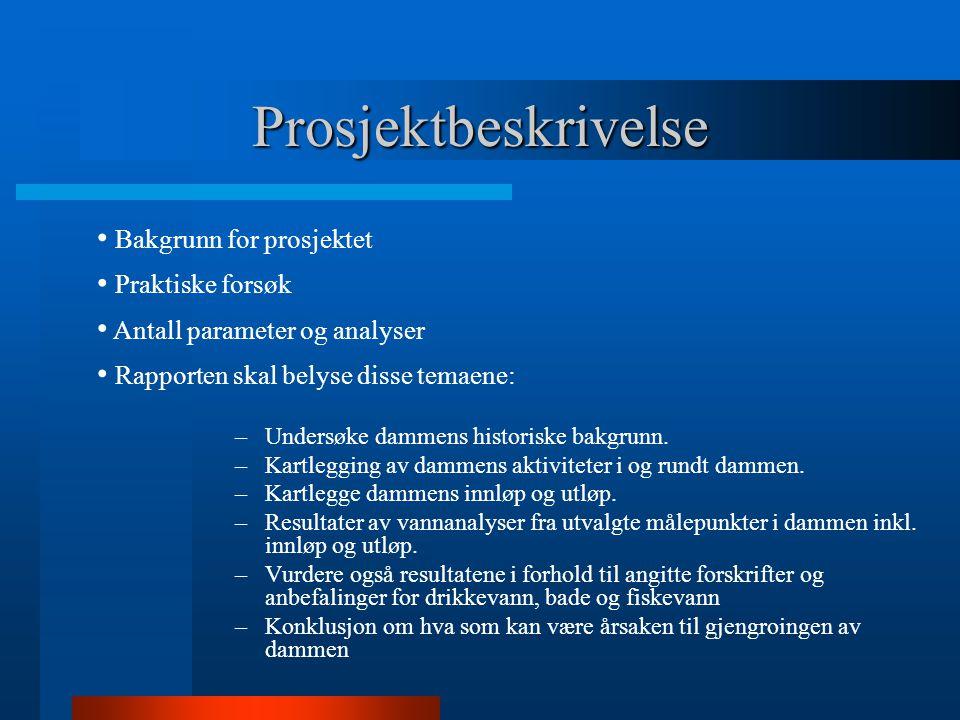Prosjektbeskrivelse Bakgrunn for prosjektet Praktiske forsøk