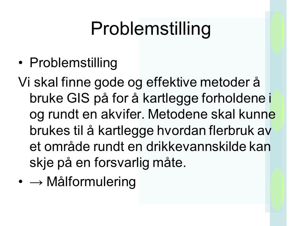 Problemstilling Problemstilling