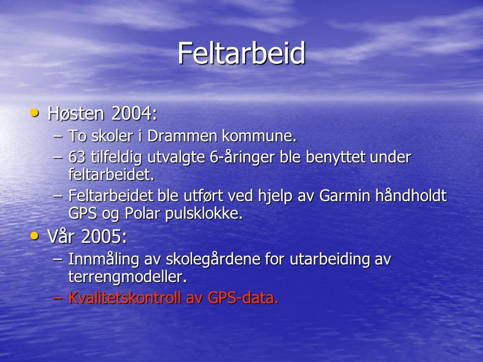 Feltarbeid Høsten 2004: Vår 2005: To skoler i Drammen kommune.