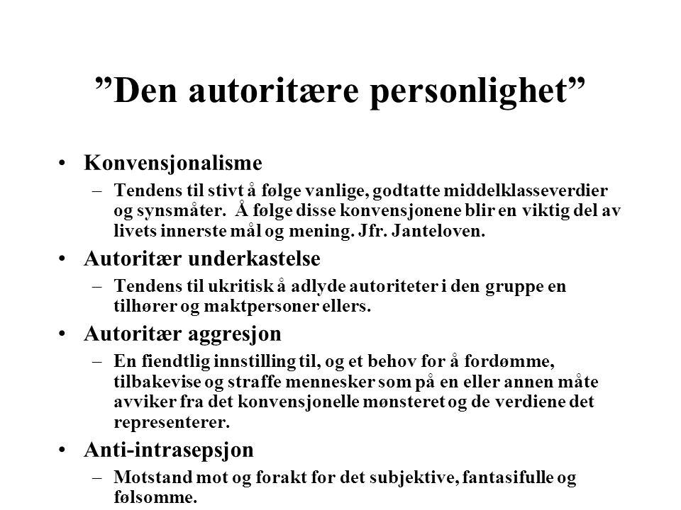 Den autoritære personlighet