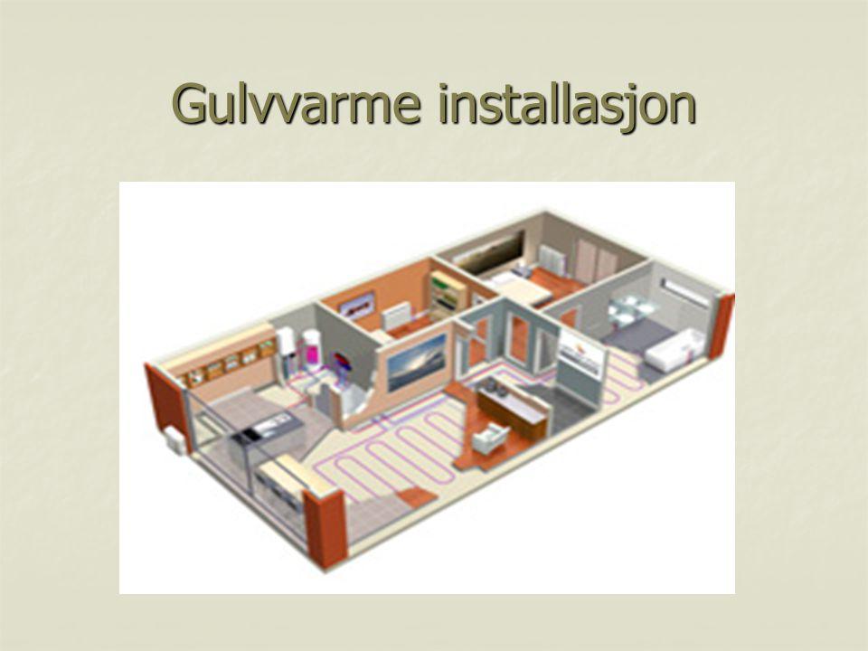 Gulvvarme installasjon