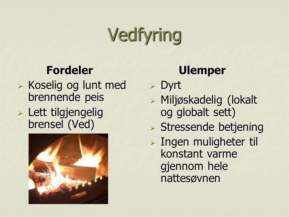 Vedfyring Fordeler Koselig og lunt med brennende peis