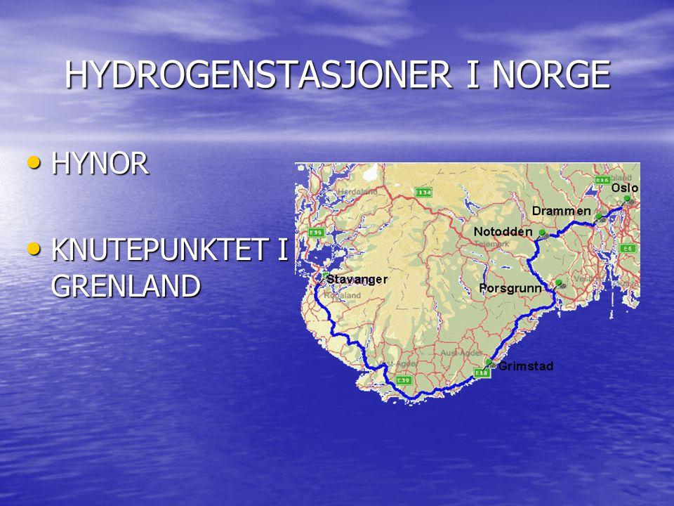 HYDROGENSTASJONER I NORGE