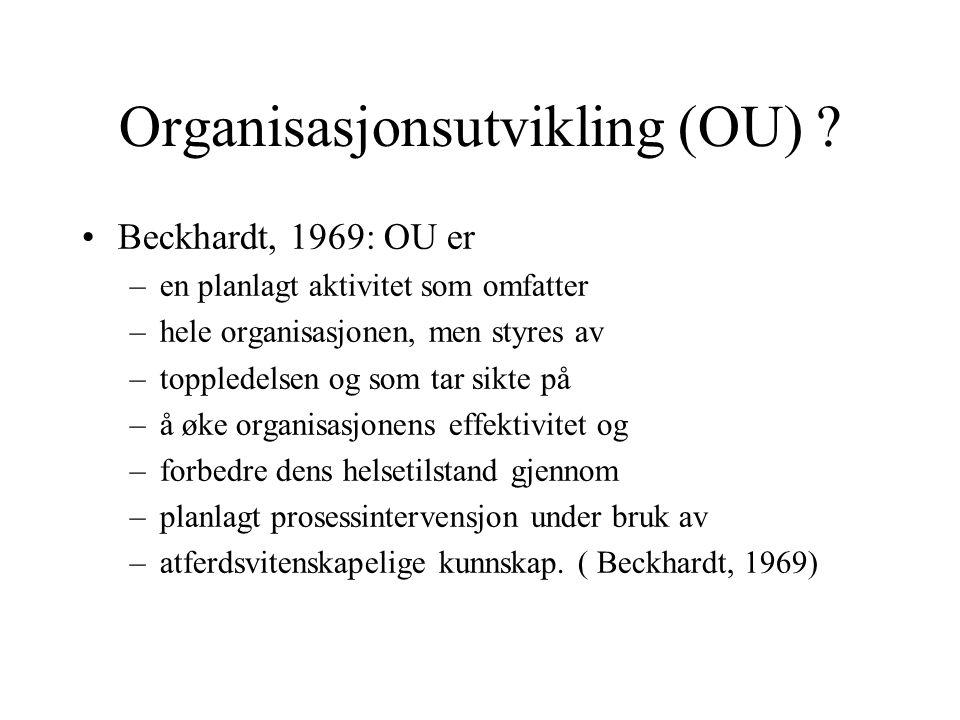 Organisasjonsutvikling (OU)