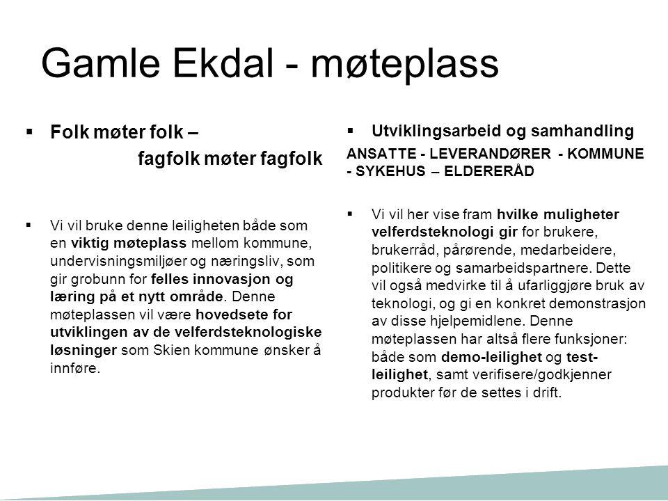 Gamle Ekdal - møteplass
